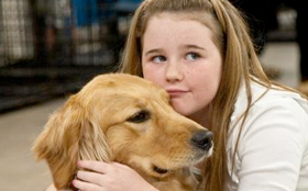 Destiny and her dog Salsa from the PBS show